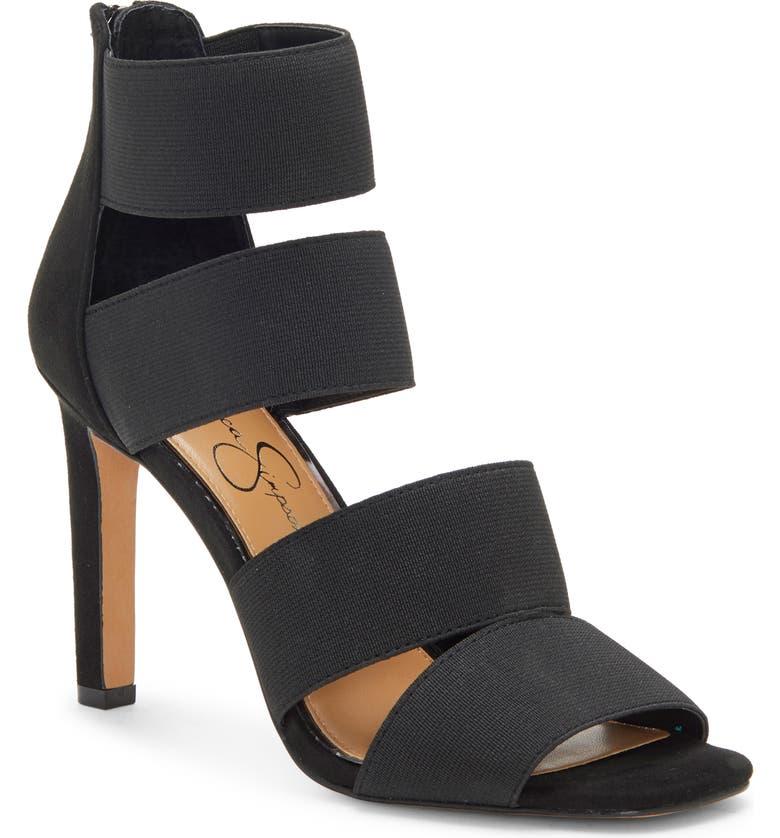 JESSICA SIMPSON Cerina Sandal, Main, color, BLACK FABRIC