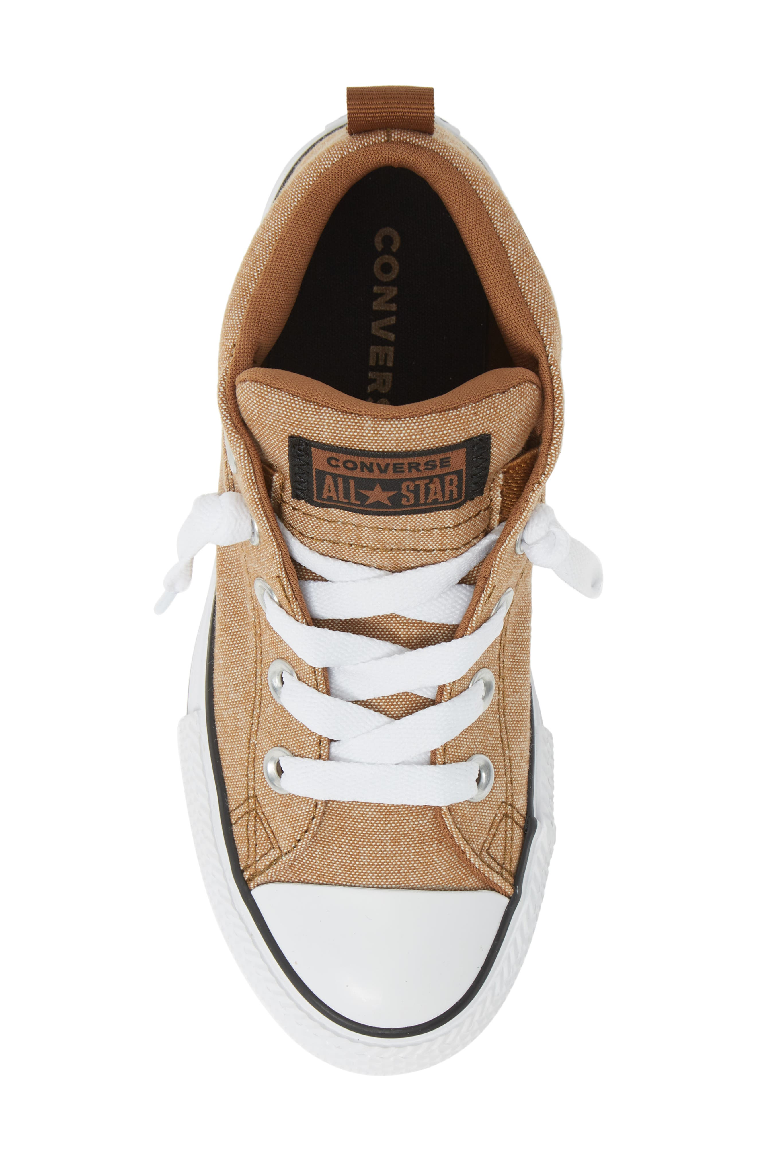 ,                             Chuck Taylor<sup>®</sup> All Star<sup>®</sup> Street Mid Top Sneaker,                             Alternate thumbnail 5, color,                             ALE BROWN/ BLACK/ WHITE