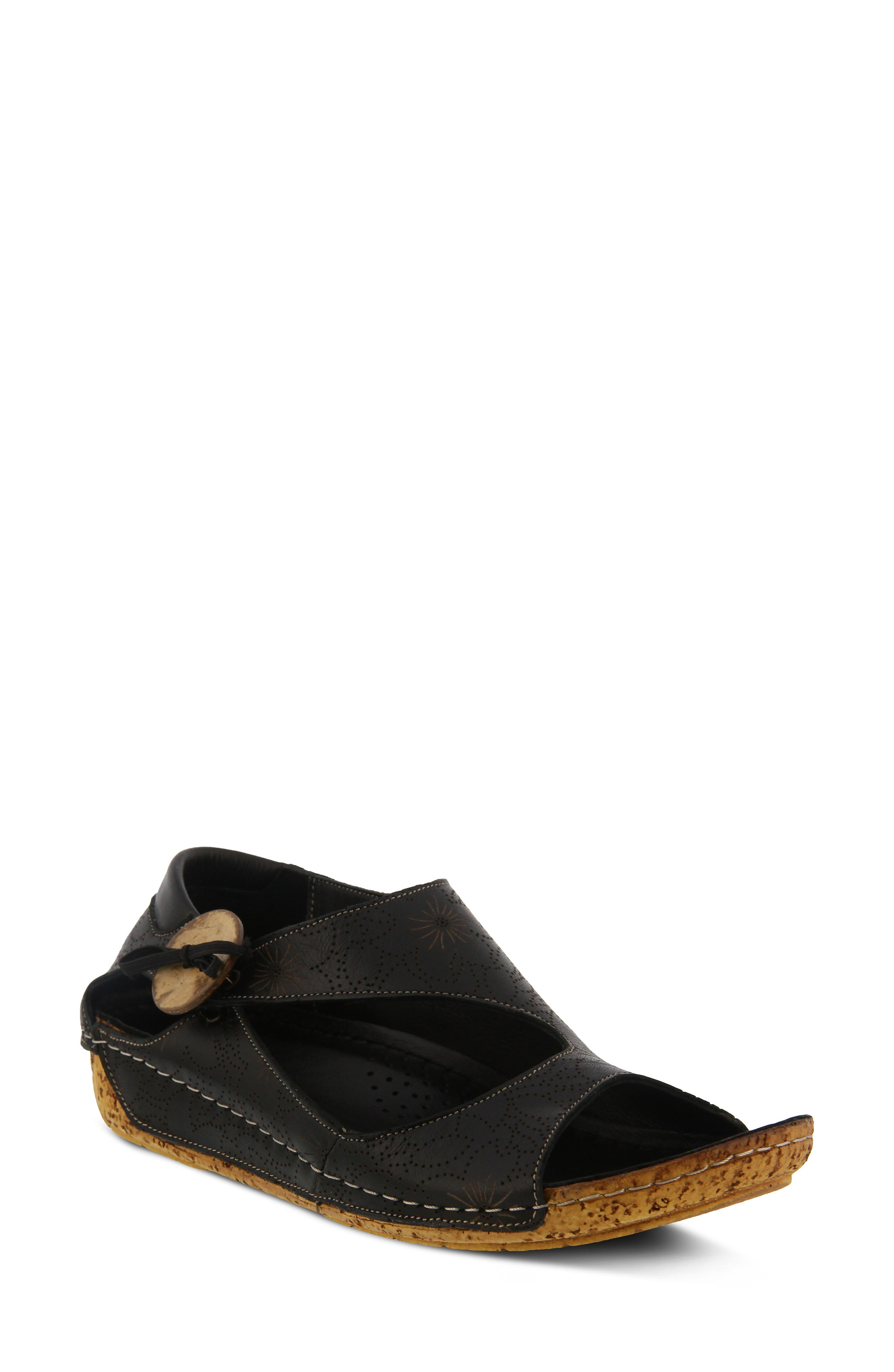 Spring Step Lorelle Flat - Black
