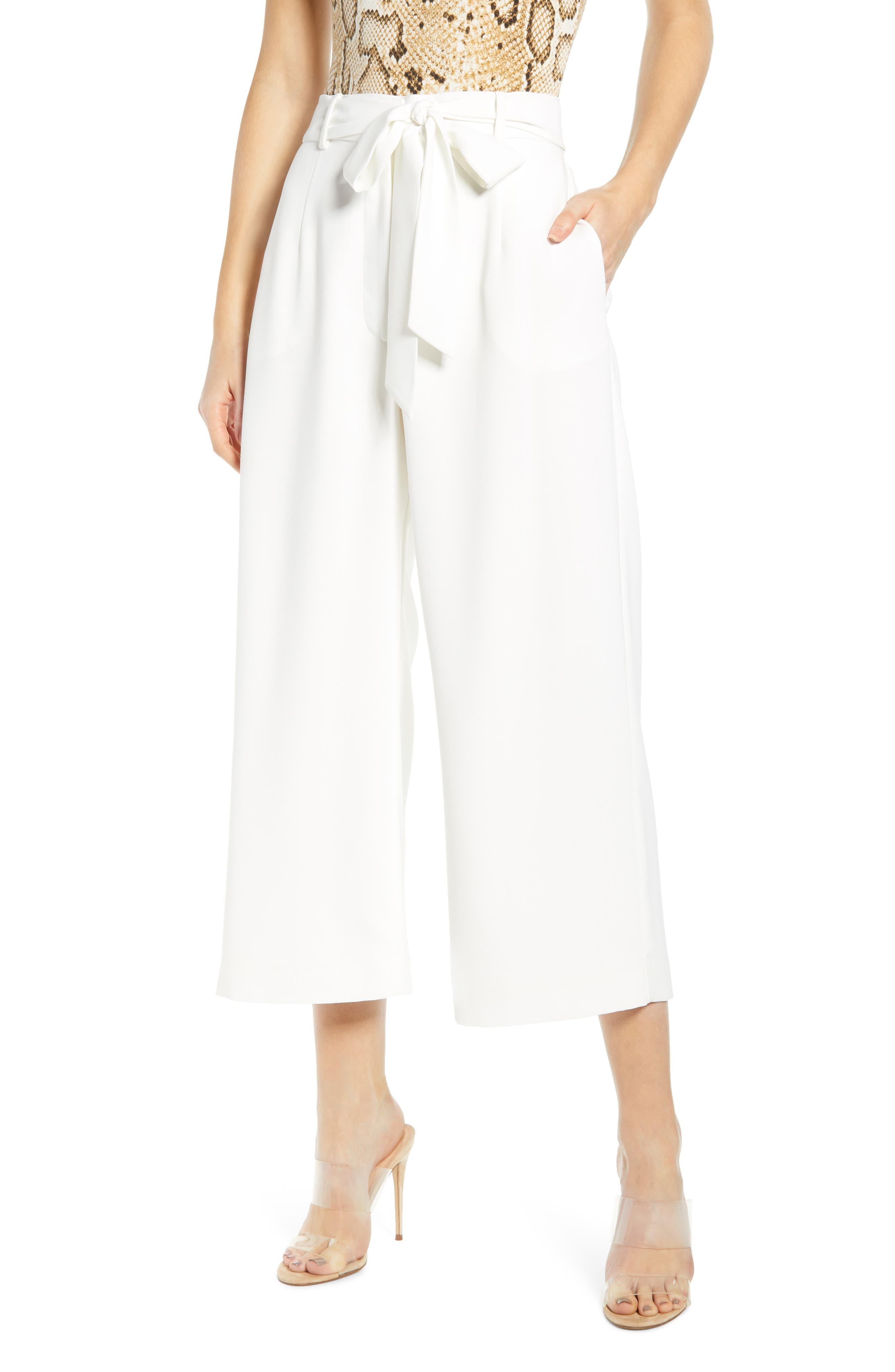Layne Pintuck Belted Pants, Main, color, 900