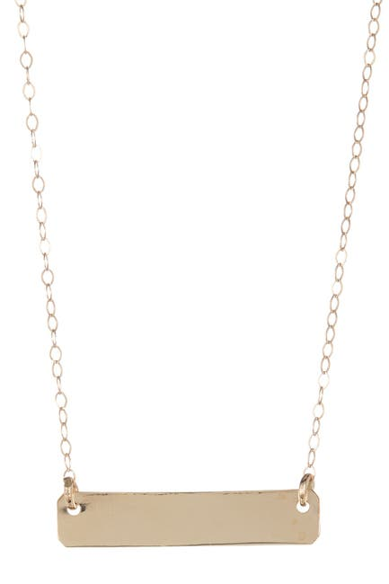 Image of Best Silver Inc. 14K Yellow Gold Bar Pendant Necklace