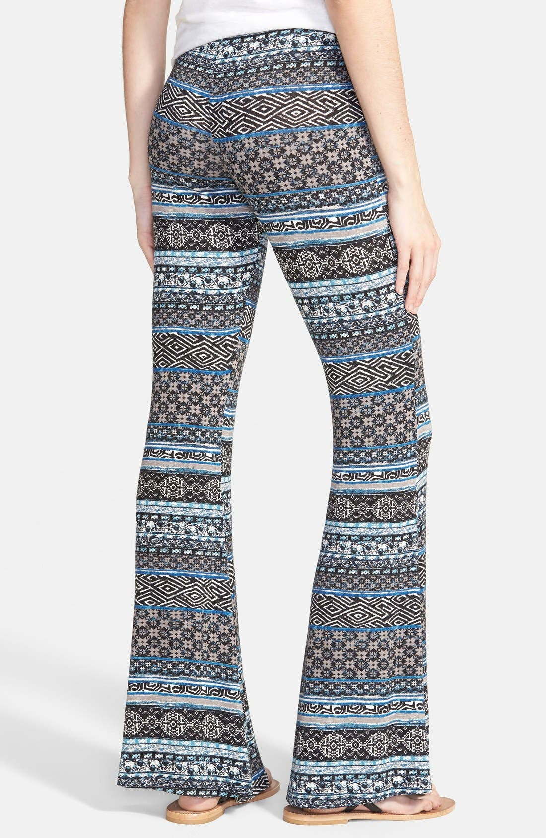 ,                             Mixed Print Flare Leg Pants,                             Alternate thumbnail 48, color,                             020