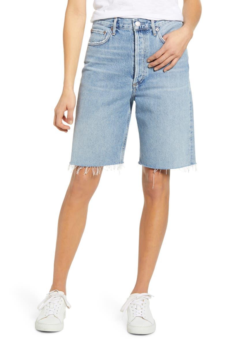 AGOLDE '90s Longline Denim Shorts, Main, color, 491