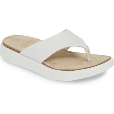 Ecco Corksphere Flip Flop, White
