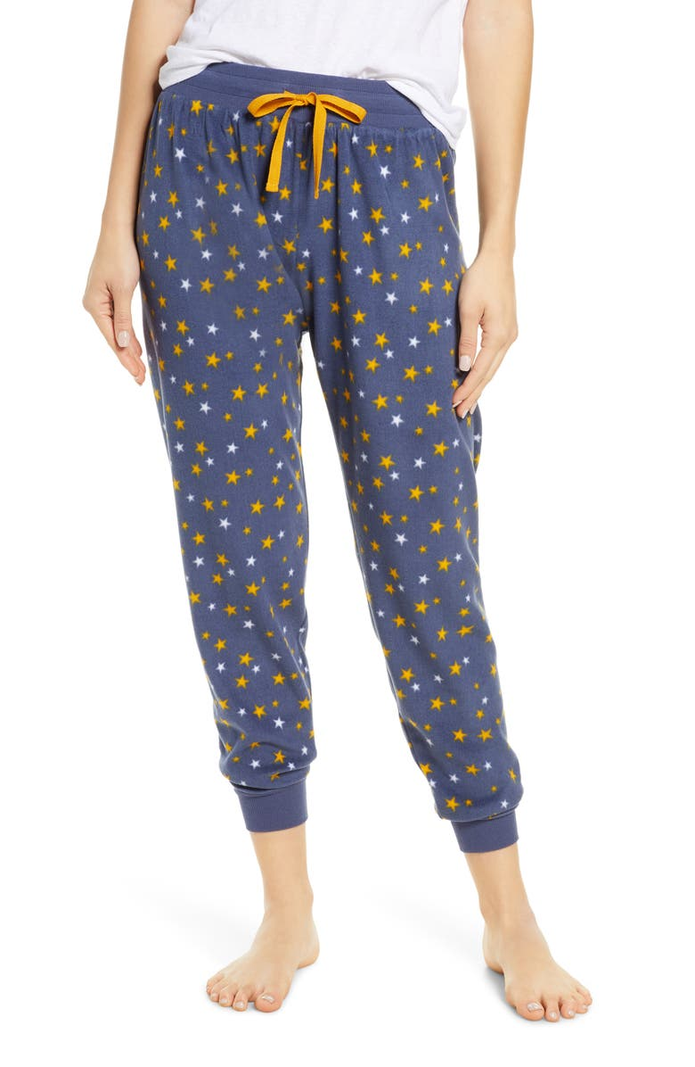 BP. Microfleece Jogger Pants, Main, color, BLUE VINTAGE STARS