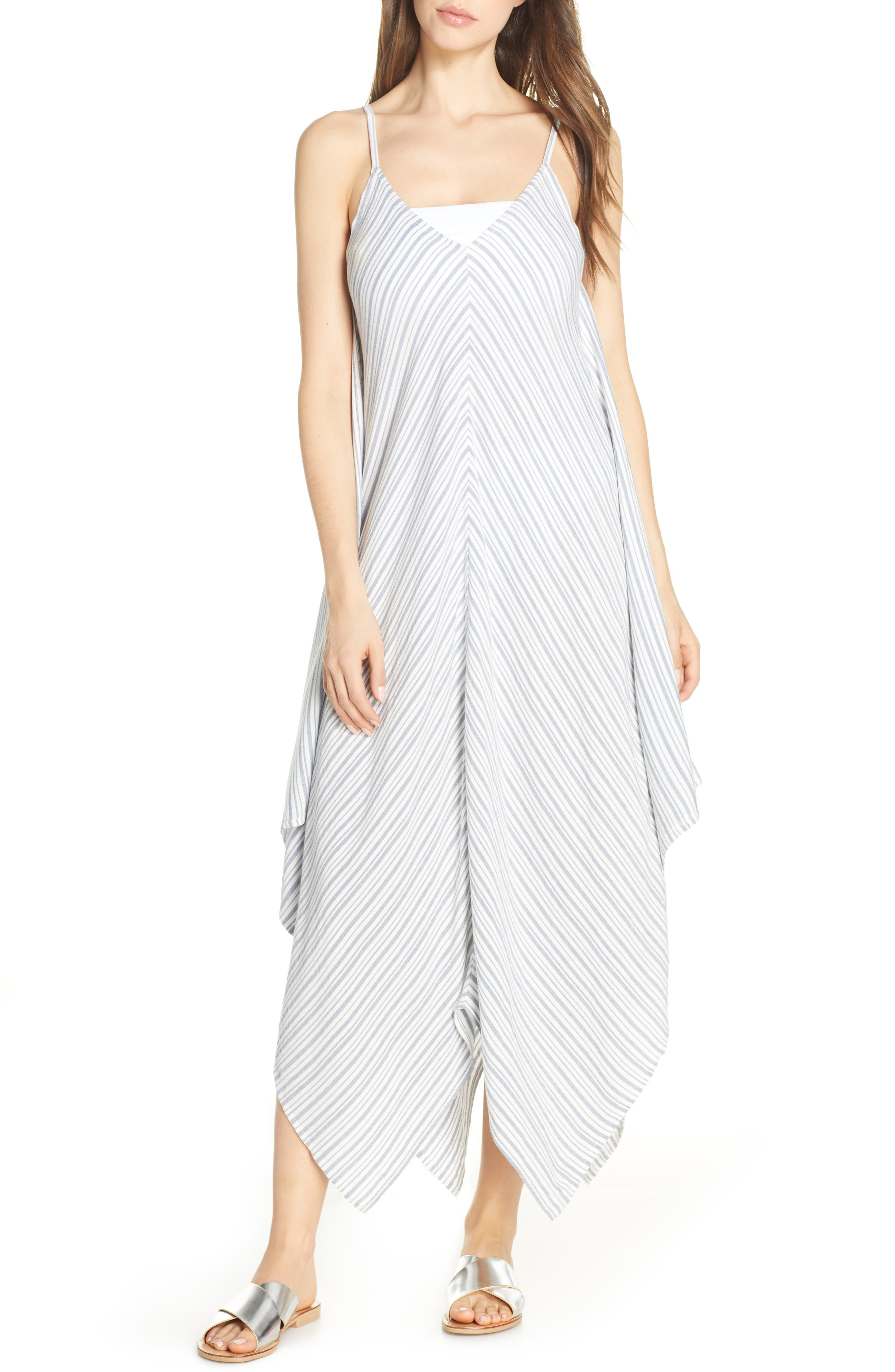 Tommy Bahama Stripe Maxi Cover-Up Dress, White