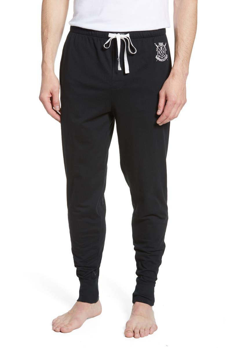 POLO RALPH LAUREN Cotton Jogger Pants, Main, color, BLACK
