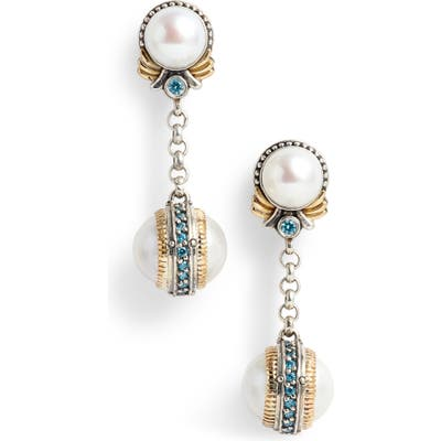 Konstantino Thalia Double Pearl Chain Earrings