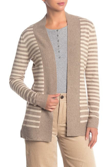 Image of Cyrus Cozy Striped Open Front Cardigan