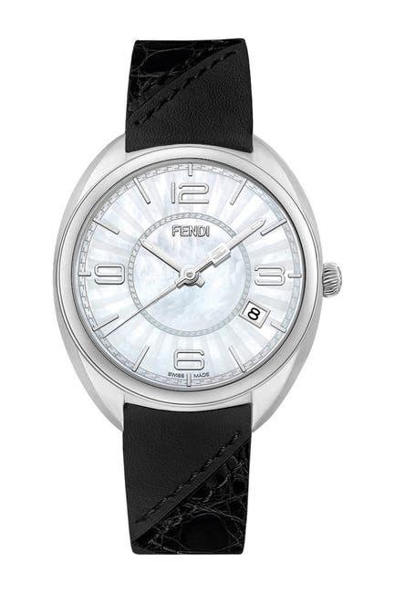 Image of FENDI Women's Genuine Alligator Leather Strap Bracelet Watch, 34mm