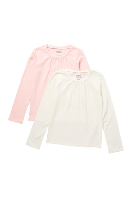 Image of Harper Canyon Crew Neck Long Sleeve T-Shirt - Pack of 2