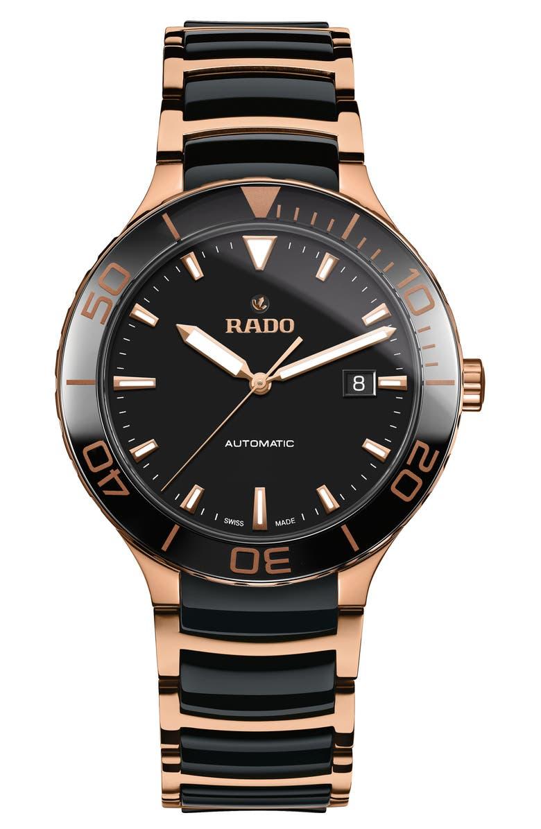 RADO Centrix Automatic Bracelet Watch, 42mm, Main, color, 001
