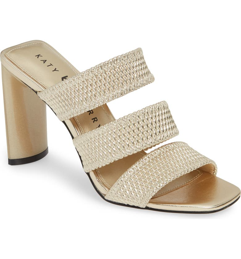 KATY PERRY Cali Quilted Strap Sandal, Main, color, CHAMPAGNE