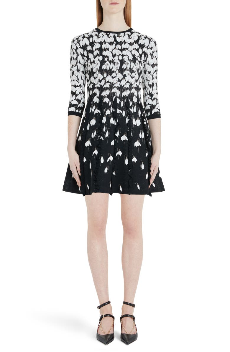 VALENTINO Bucaneve Jacquard Sweater Dress, Main, color, K92-BLACK/ MULTICOLOR