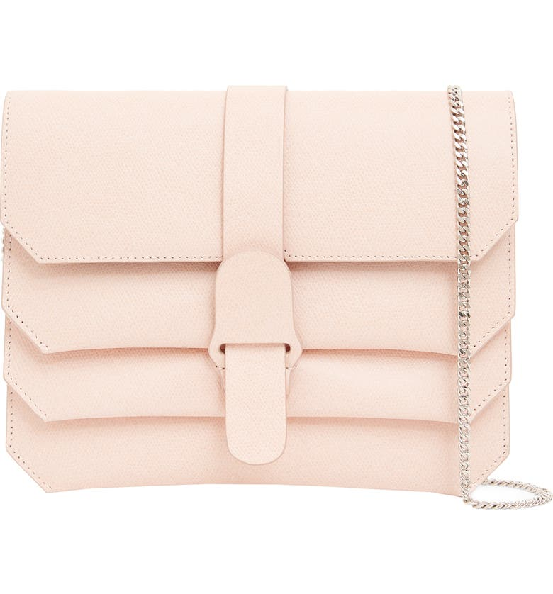 SENREVE Pebbled Leather Crossbody Bag, Main, color, BLUSH