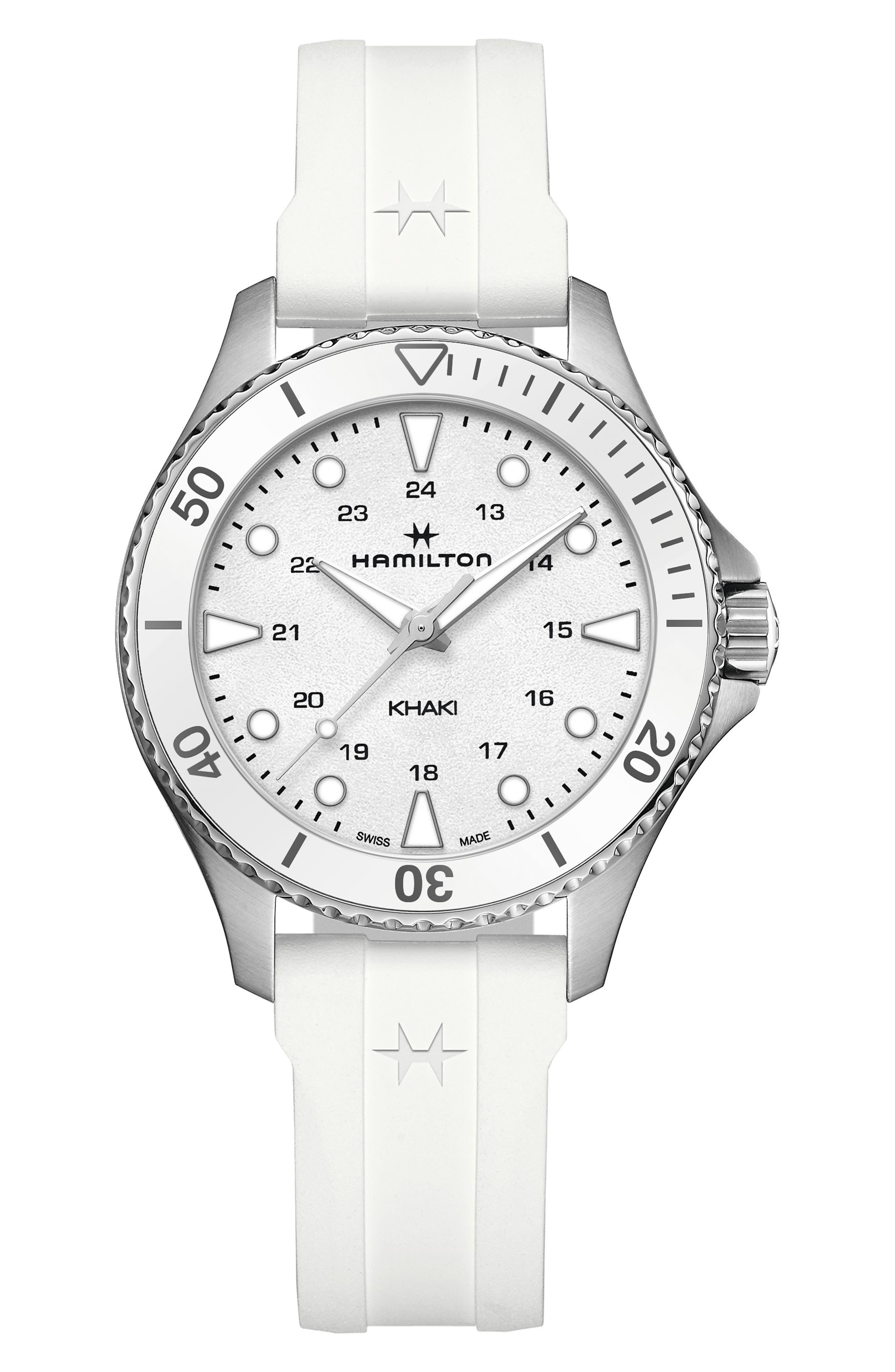 Khaki Navy Scuba Quartz Rubber Strap Watch