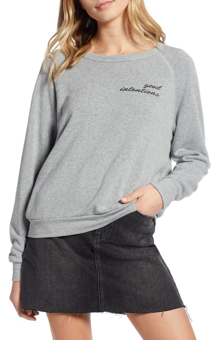 PROJECT SOCIAL T Good Intentions/Bad Habits Reversible Sweatshirt, Main, color, 020