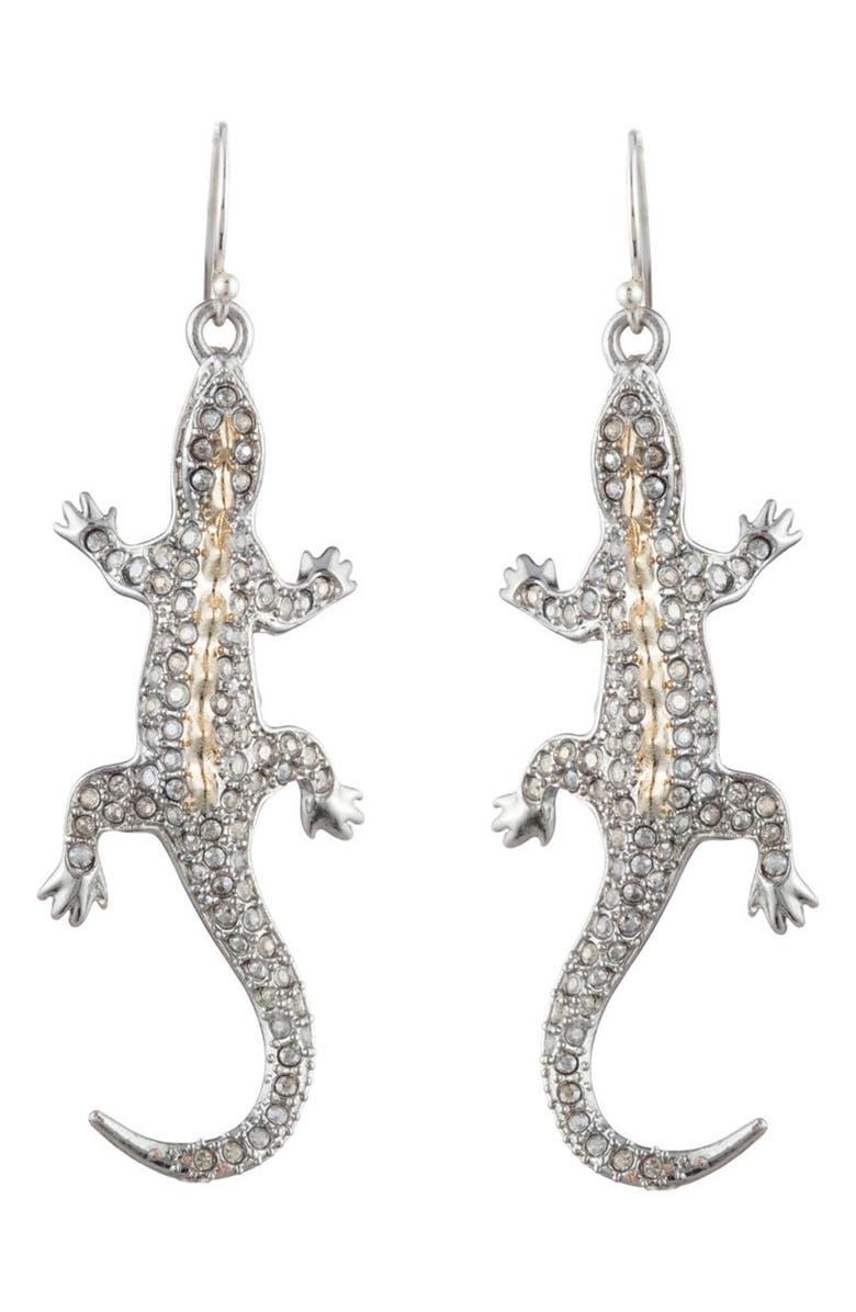 ALEXIS BITTAR Pavé Lizard Drop Earrings, Main, color, 040