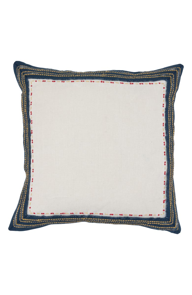 VILLA HOME COLLECTION Quinn Accent Pillow, Main, color, IVORY/ NAVY