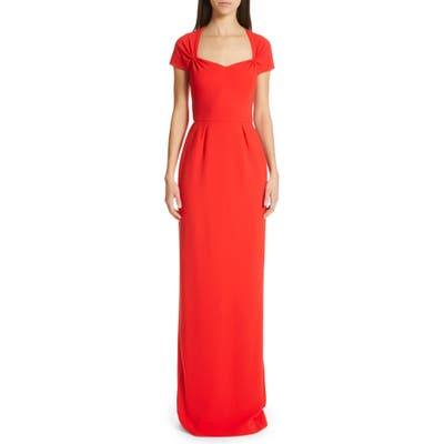 Stella Mccartney Rose Column Gown, 8 IT - Red