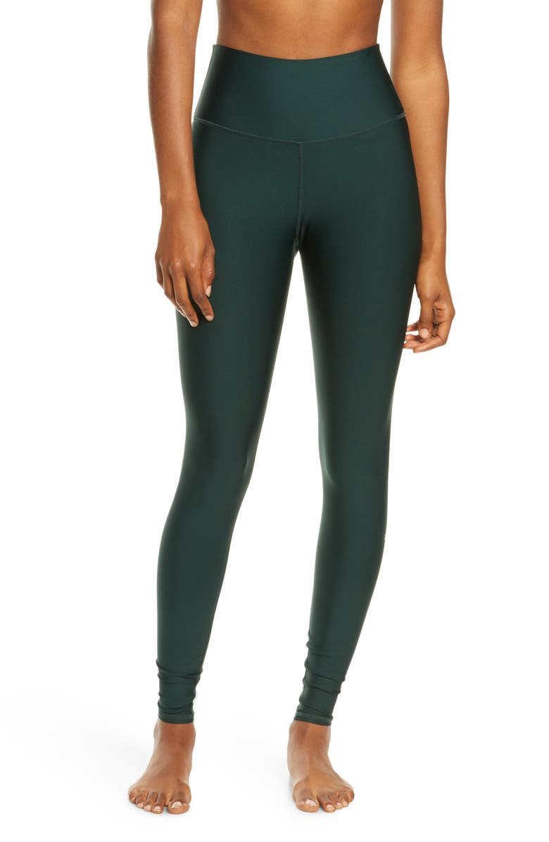 ALO Airlift High Waist Leggings, Main, color, FOREST