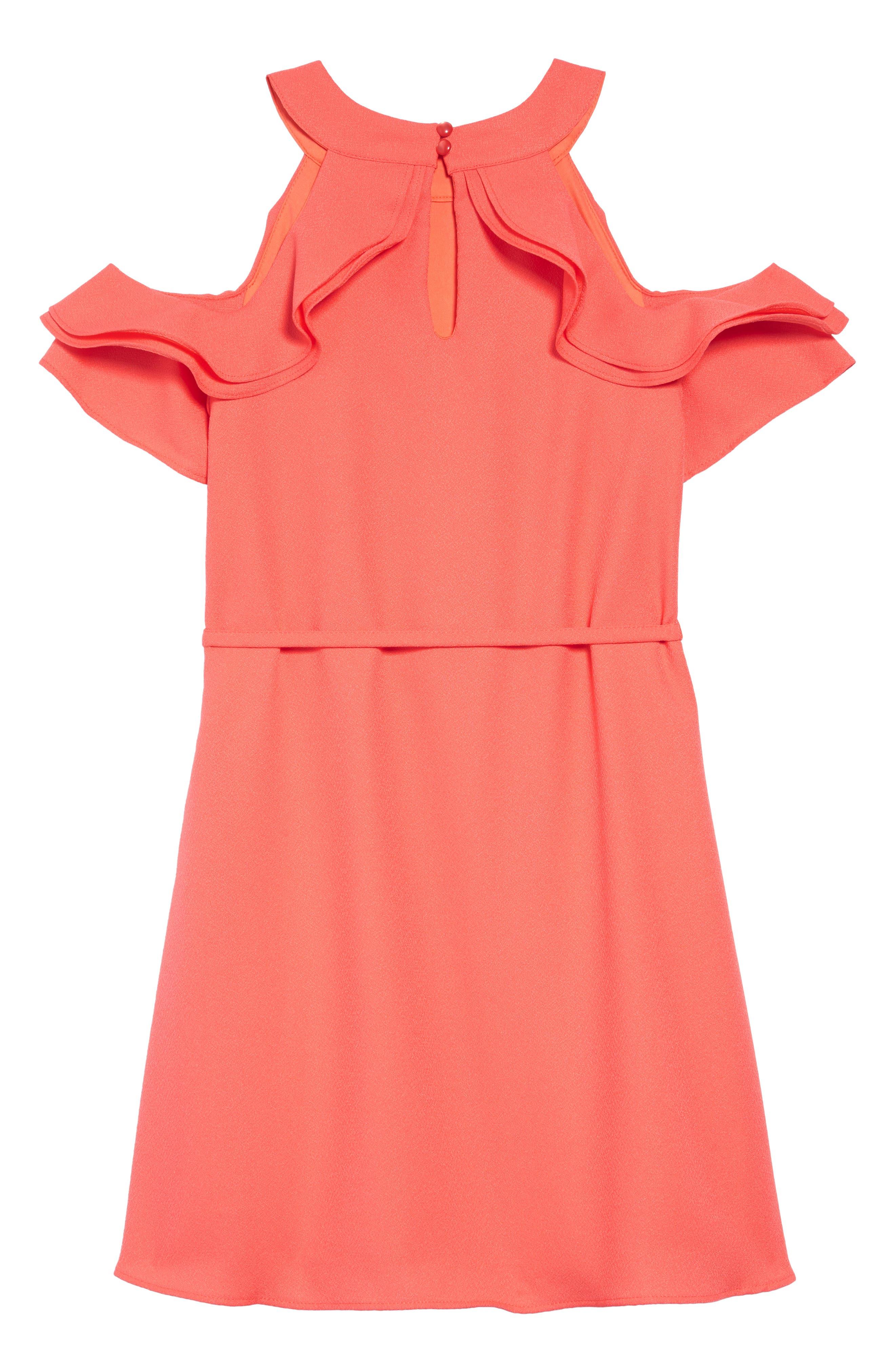 ,                             Cold Shoulder Crepe Dress,                             Alternate thumbnail 2, color,                             950