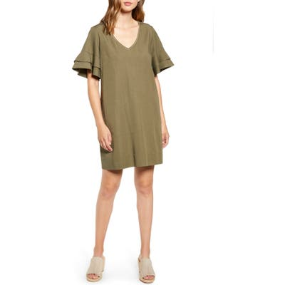 Tommy Bahama Lanailette V-Neck Shift Dress, Green