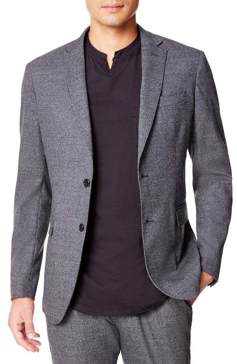 GOOD MAN BRAND Flexo Uptown Slim Fit Stretch Wool Sport Coat, Main, color, CHARCOAL