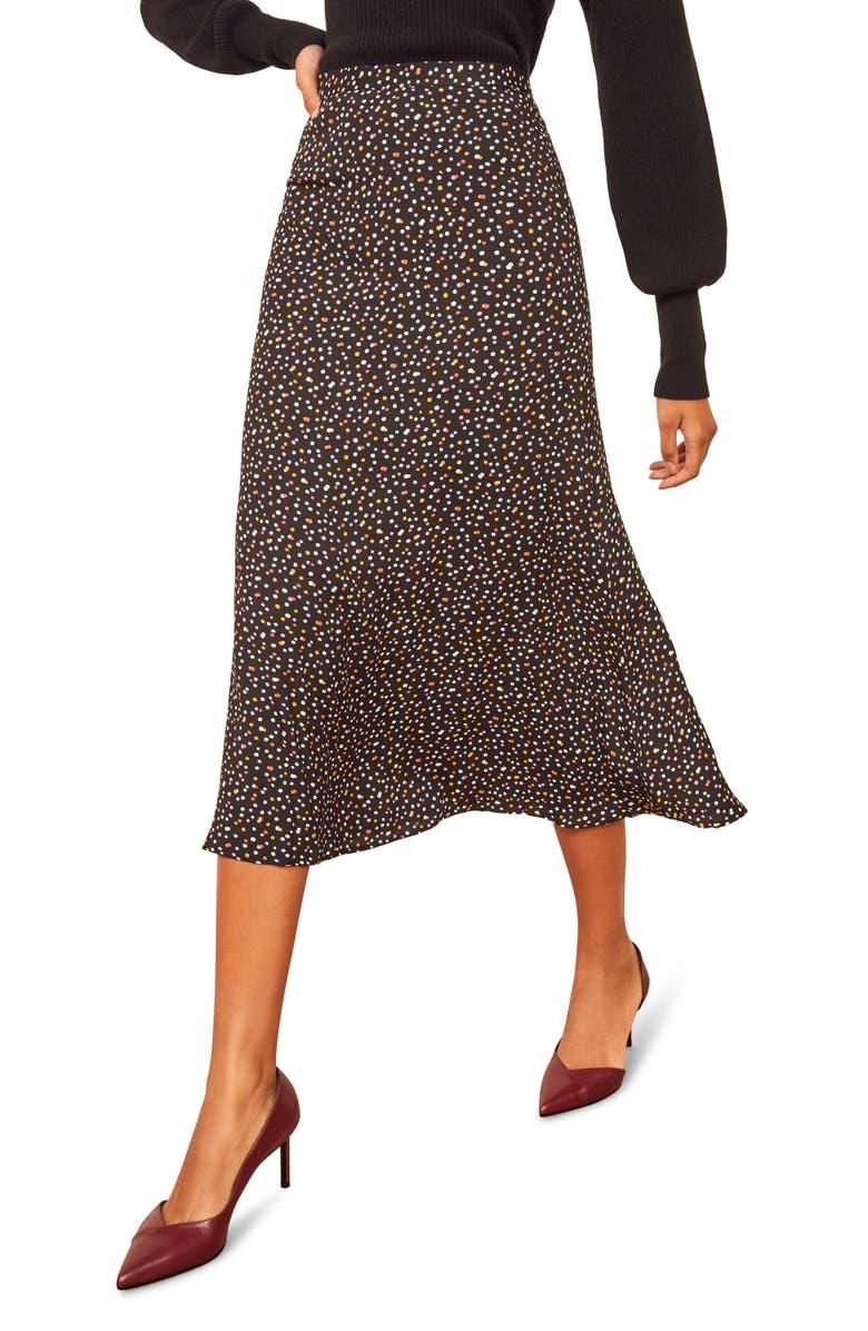 REFORMATION Bea Midi Skirt, Main, color, CONFETTI