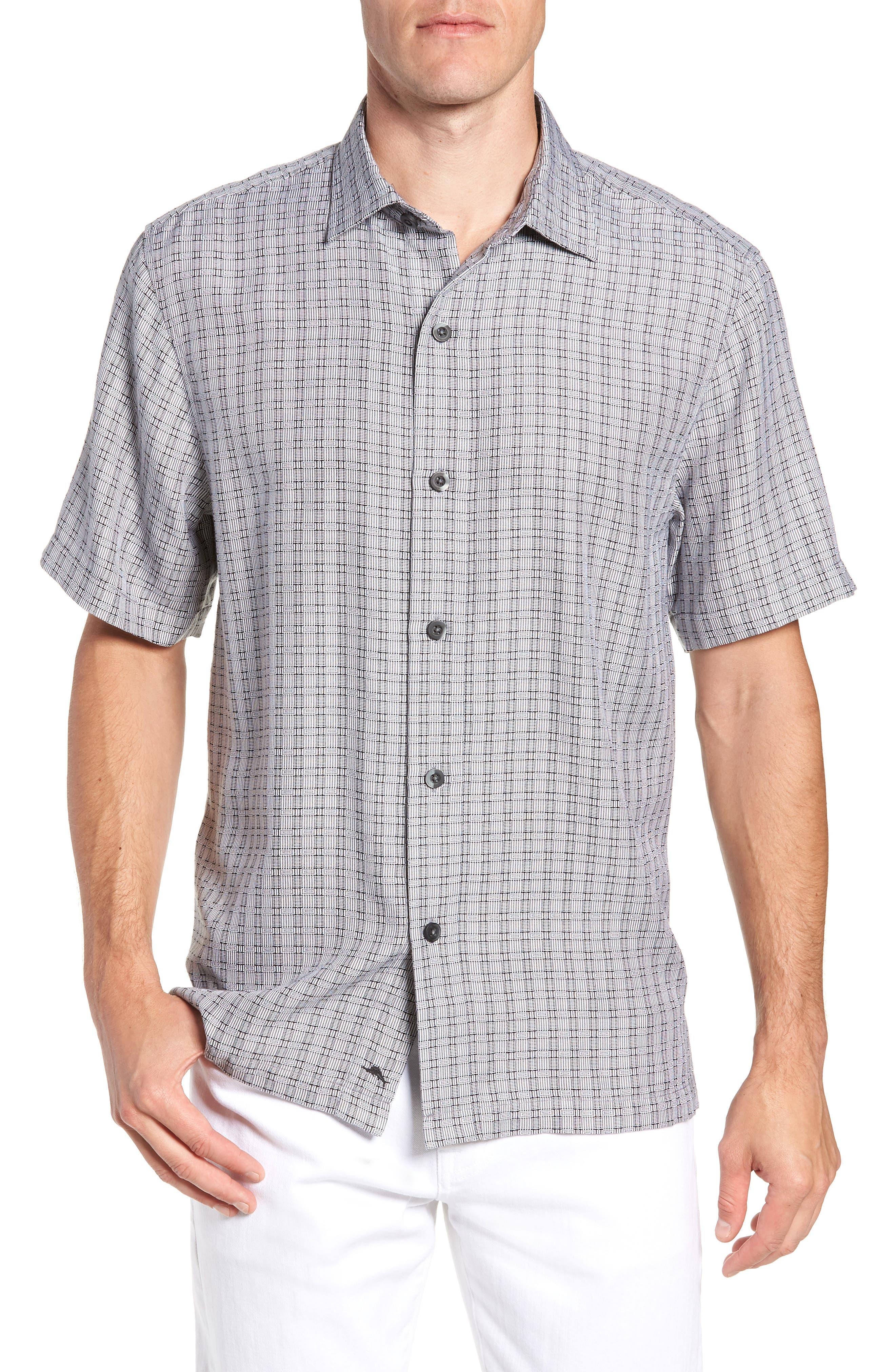 Geo Getaway Silk Camp Short Sleeve Shirt