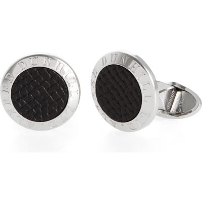 Dunhill Cadogan Leather Inset Cuff Links