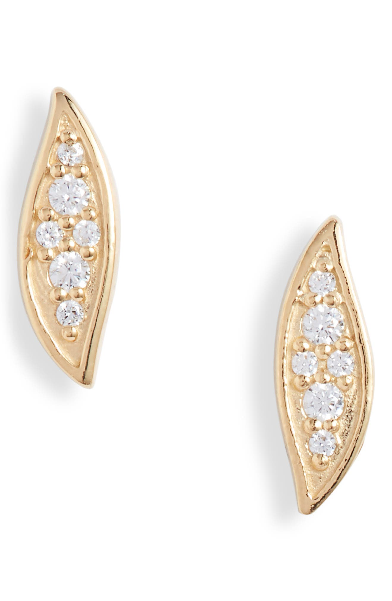 Women's Argento Vivo Pave Marquise Stud Earrings