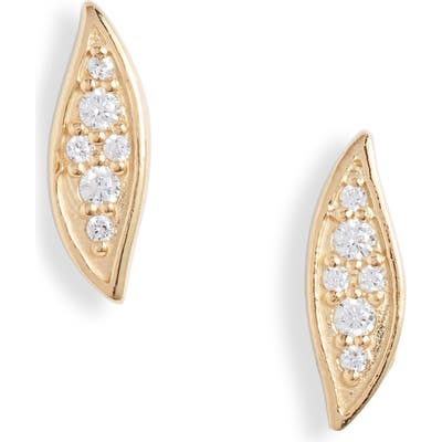 Argento Vivo Pave Marquise Stud Earrings