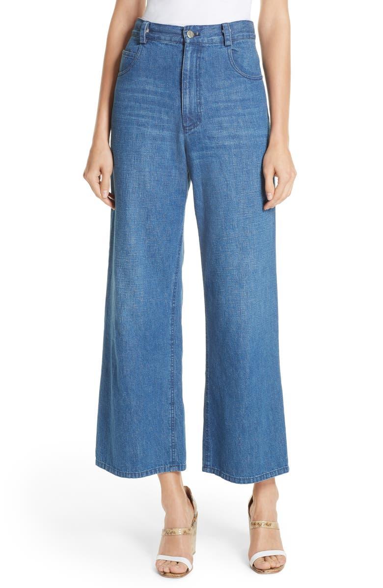 RACHEL COMEY Clean Legion Crop Wide Leg Jeans, Main, color, CLASSIC INDIGO