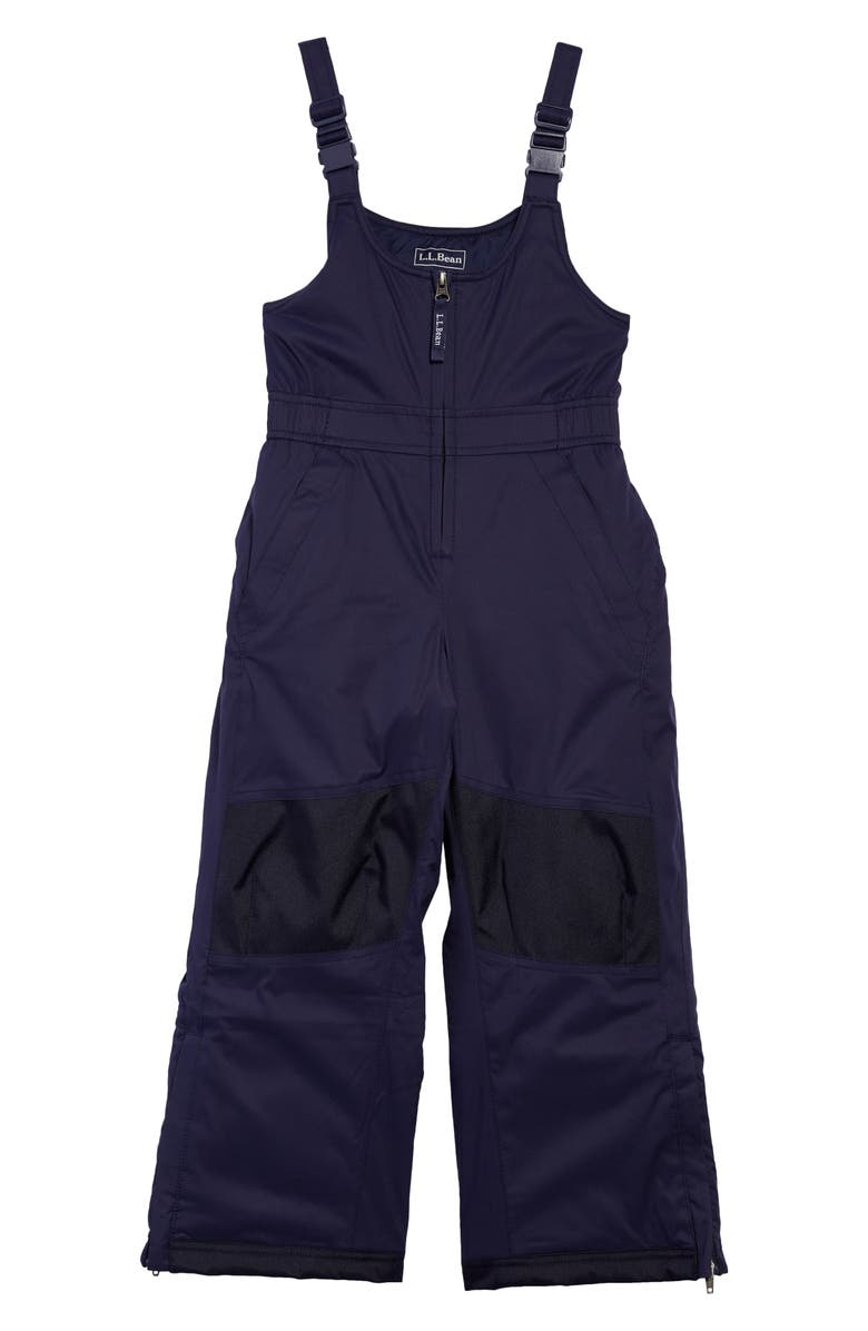 L.L.BEAN Kids' Cold Buster Snow Bib Overalls, Main, color, DEEPEST BLUE