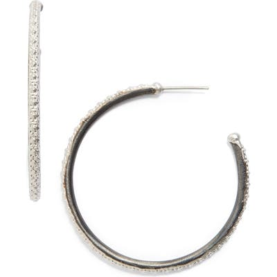 Armenta Old World Midnight Hoop Earrings