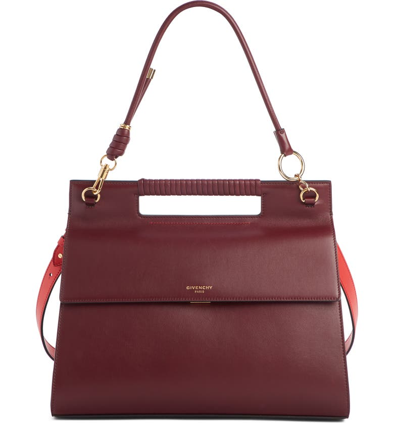 GIVENCHY Large Whip Leather Top Handle Bag, Main, color, 930