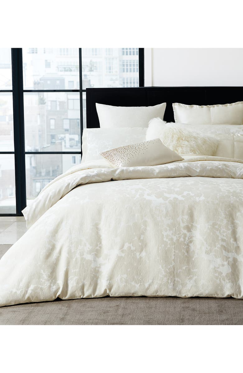 DONNA KARAN NEW YORK Aura Duvet Cover, Main, color, IVORY