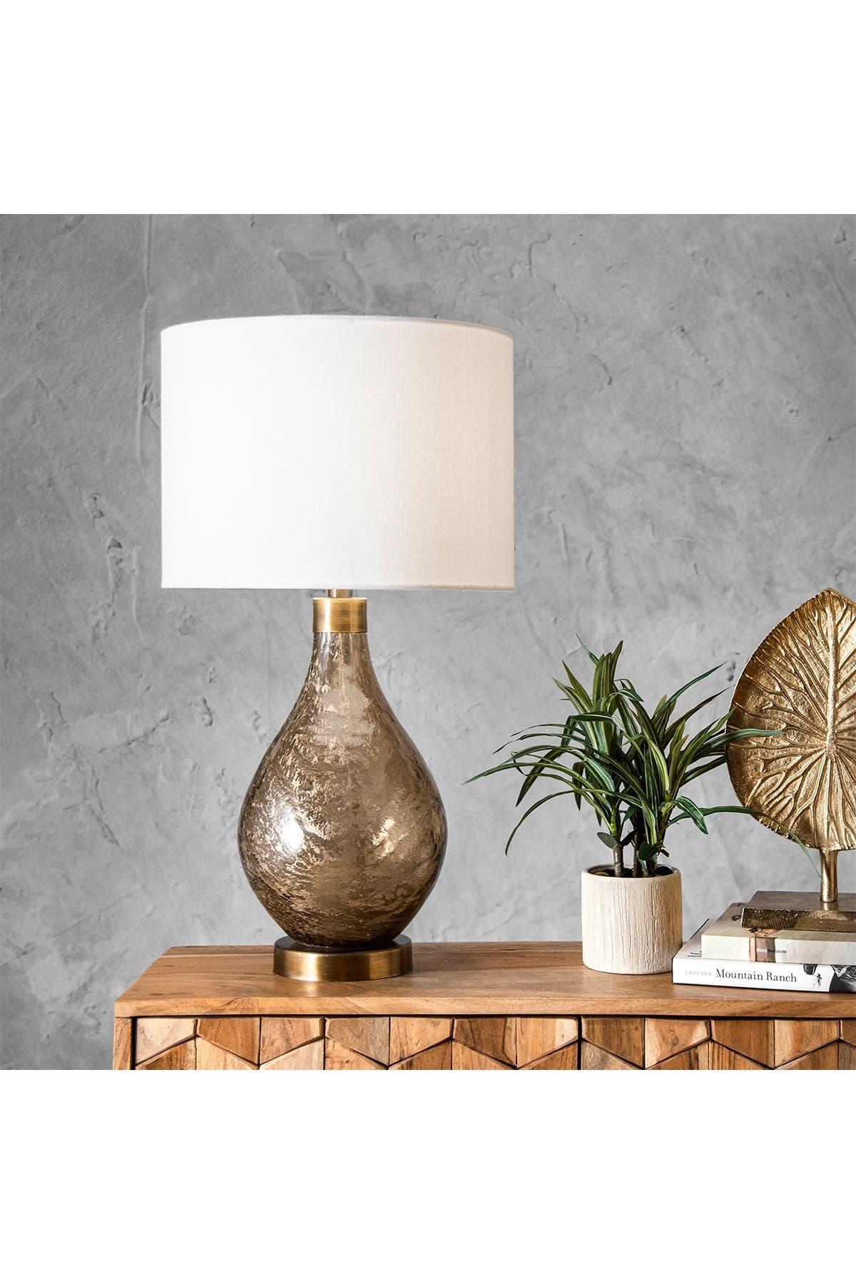 "Image of nuLOOM Beige Astor 25"" Glass Table Lamp"