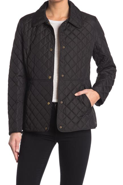Image of Lauren Ralph Lauren Quilted Snap Front Jacket