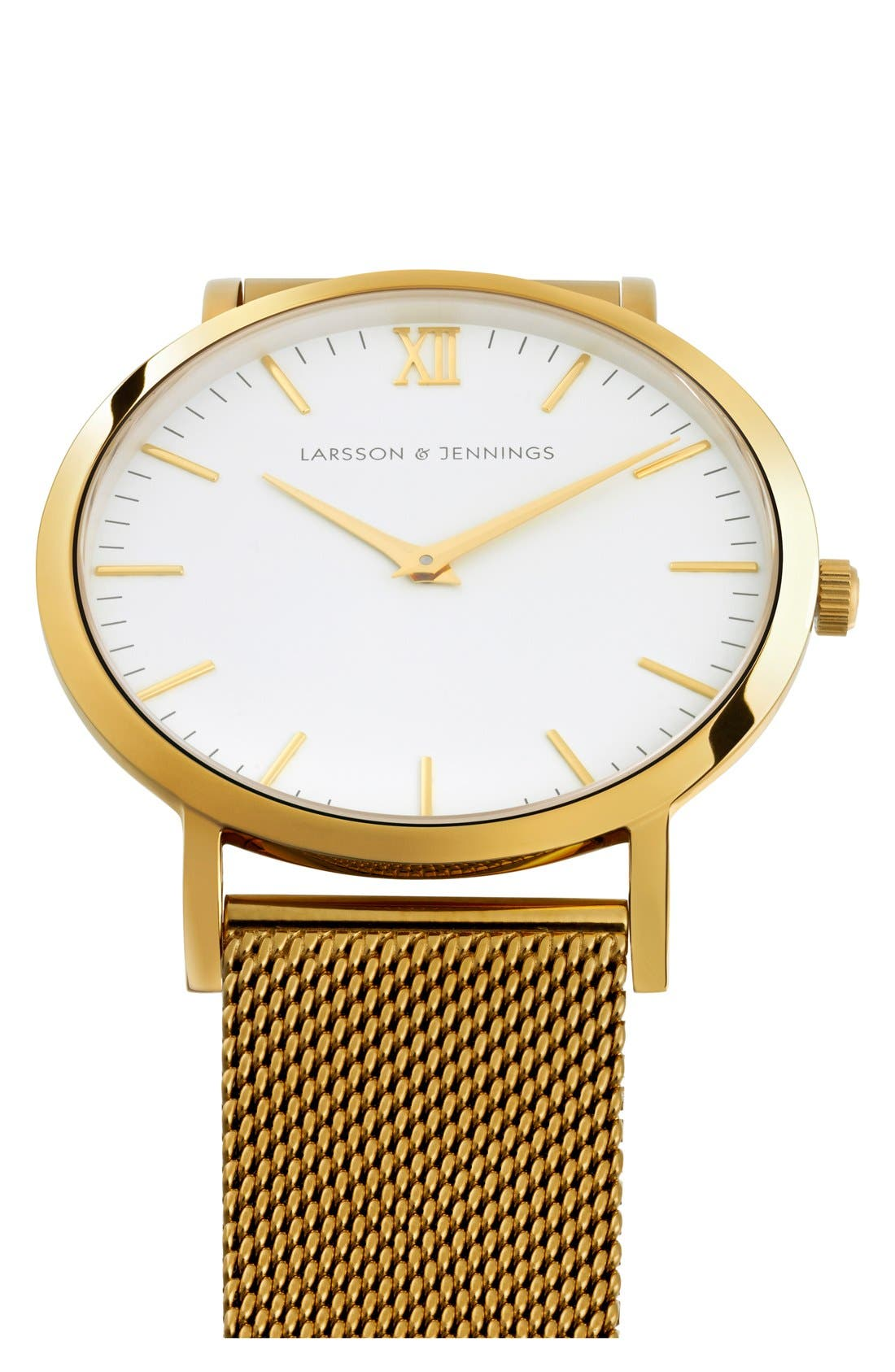 ,                             Lugano Mesh Strap Watch, 40mm,                             Alternate thumbnail 34, color,                             710