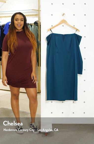 Long Sleeve Off the Shoulder Sheath Dress, sales video thumbnail