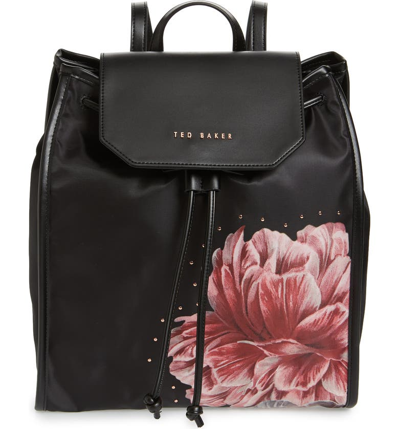 TED BAKER LONDON Iberiis Tranquility Print Backpack, Main, color, 001