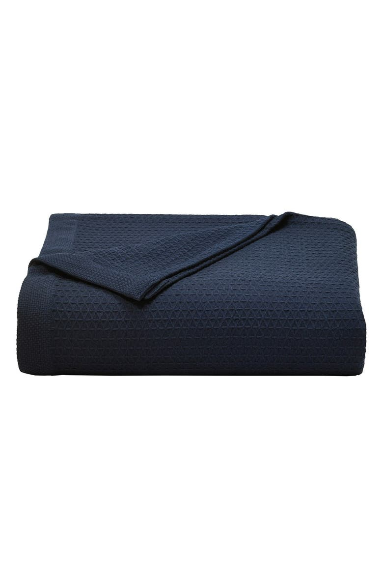 NAUTICA 'Baird' Cotton Blanket, Main, color, NAVY