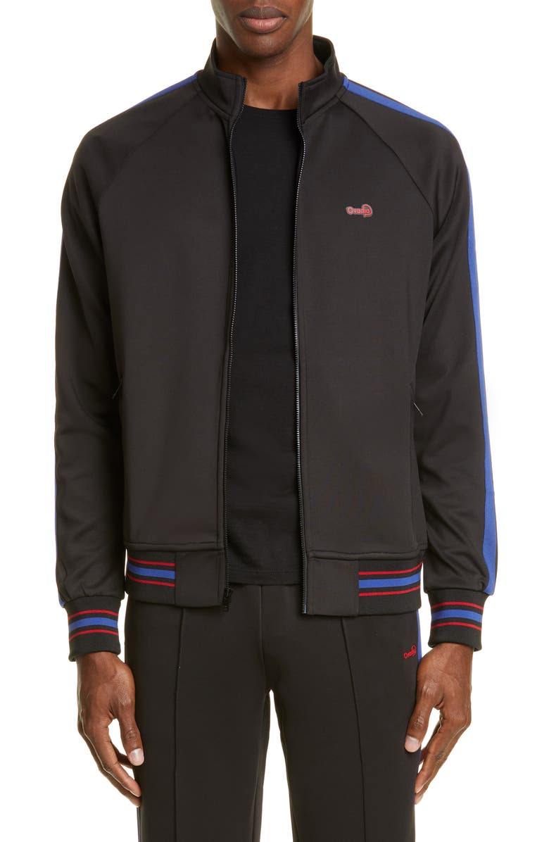 OVADIA & SONS Track Jacket, Main, color, BLACK/ BLUE/ RED