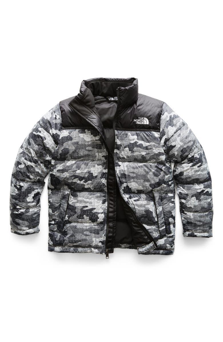 d9b13fd1f21e3 Nuptse Down Jacket, Main, color, TNF BLACK TEXTURED CAMO PRINT