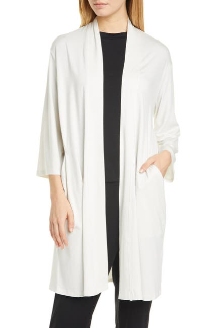 Image of Eileen Fisher Long Stretch Tencel® Lyocell Cardigan