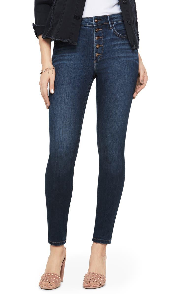 SAM EDELMAN The Stiletto Button Fly High Waist Ankle Skinny Jeans, Main, color, JACOB