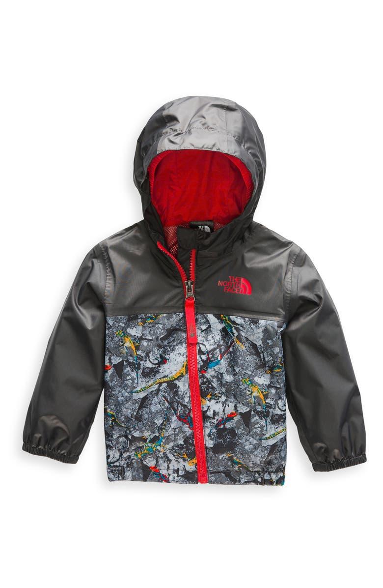 THE NORTH FACE Zipline Hooded Rain Jacket, Main, color, GRAPHITE GREY/ LIZARD