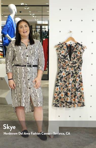 Kamea Floral Print Fit & Flare Dress, sales video thumbnail